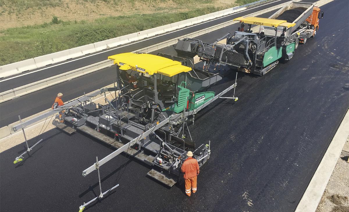 Obnova hitre ceste Vipava - Ajdovščina - Selo z opremo Wirtgen
