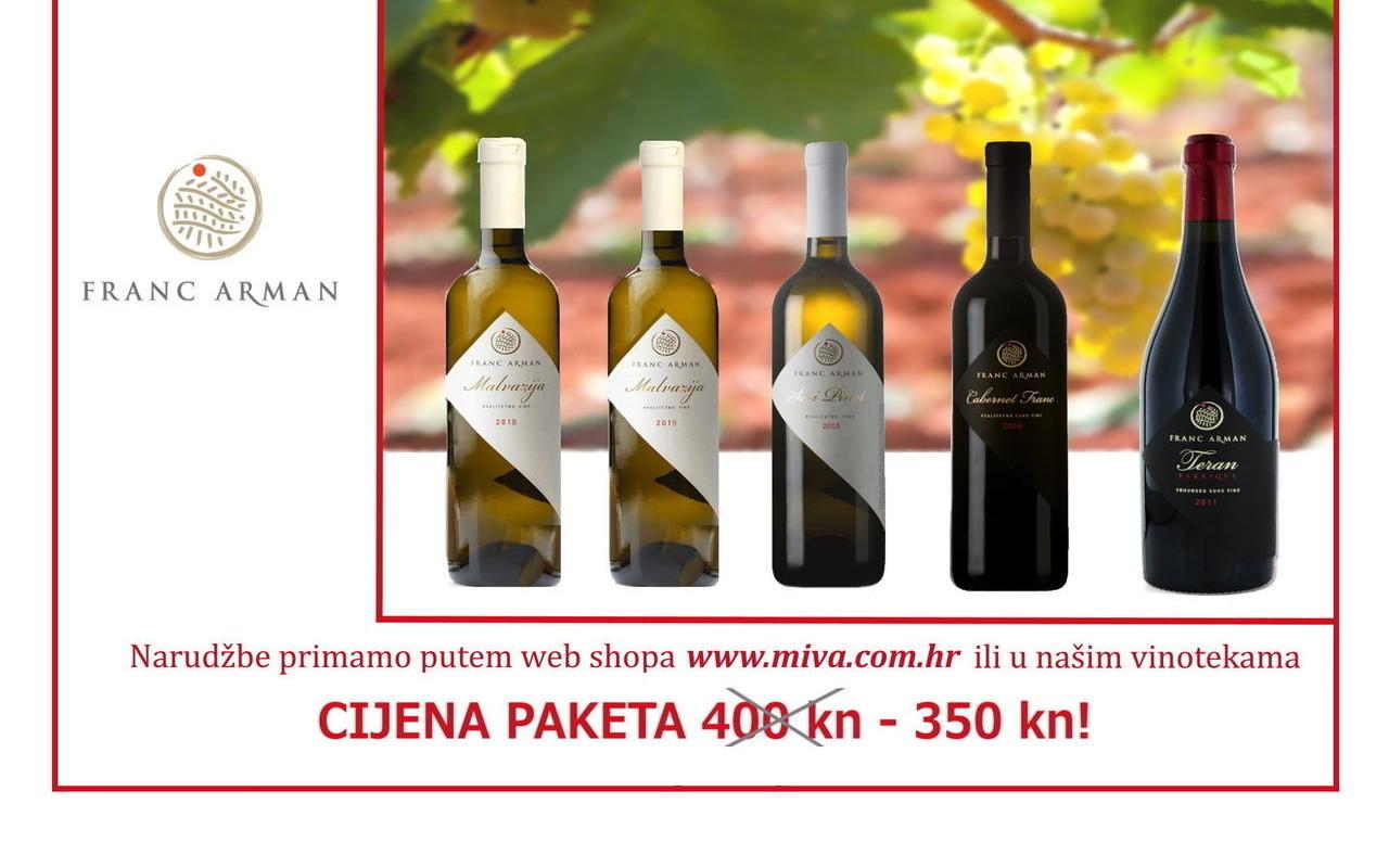 Pridružite se Miva galerija vina online radionici o vinariji Franc Arman