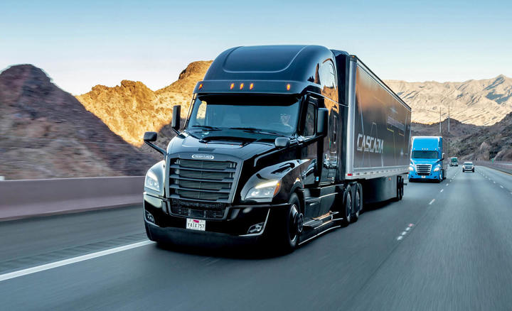 Freightliner new Cascadia, January 2019. Technical Data: Exterior, black, 126BBC w/72Ó Raised Roof Sleeper, DD15 w/ 400HP & 1,750 lb/ft torque, DT12 Direct Drive, AeroX Package, Professional Exterior Finish Appearance Package with additional black powde