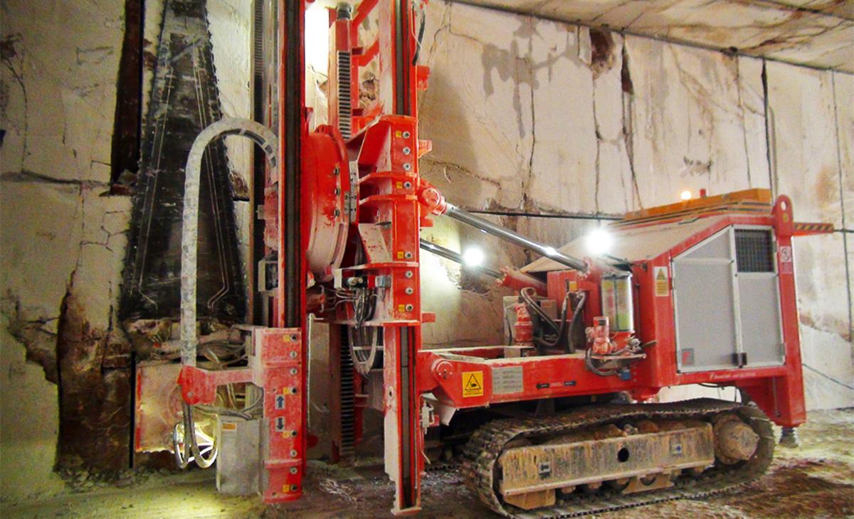 Podzemno pridobivanje v kamnolomu Debela griža