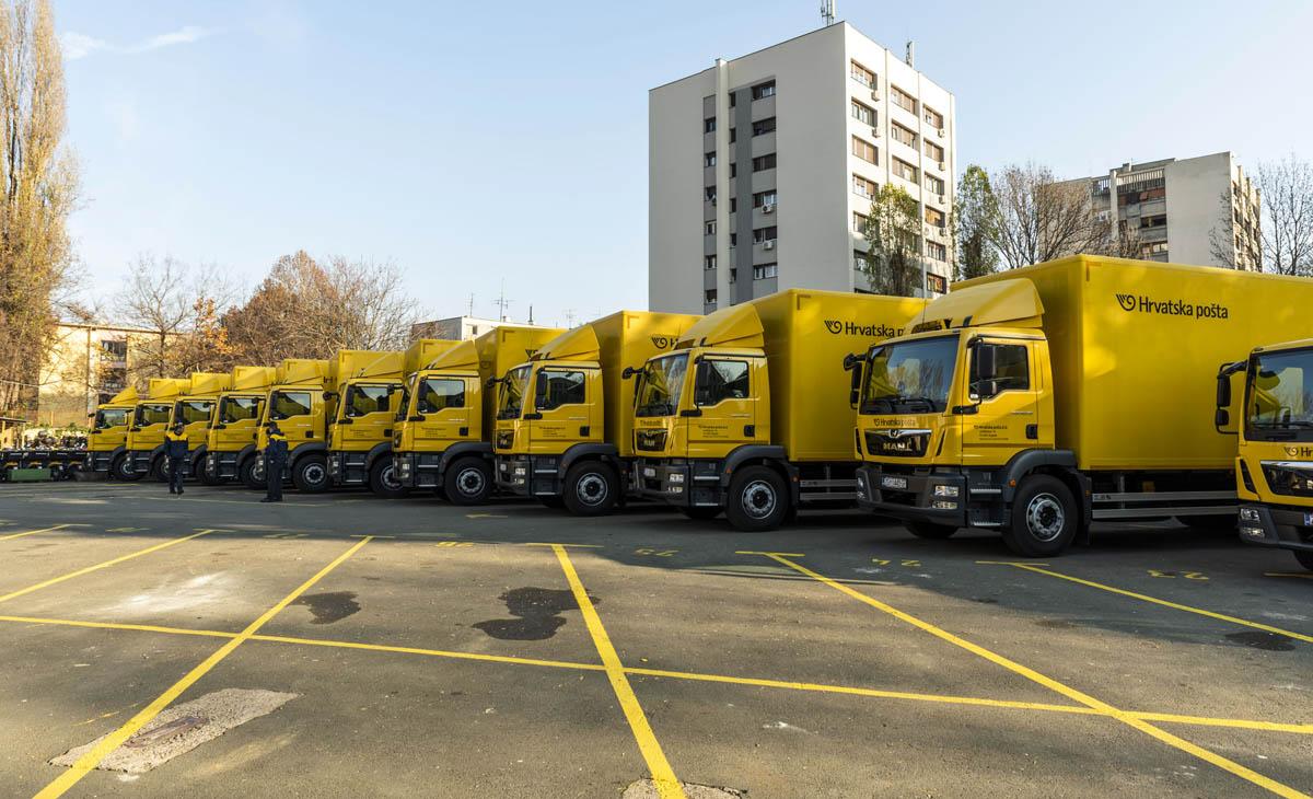 17 MAN kamiona za Hrvatsku poštu