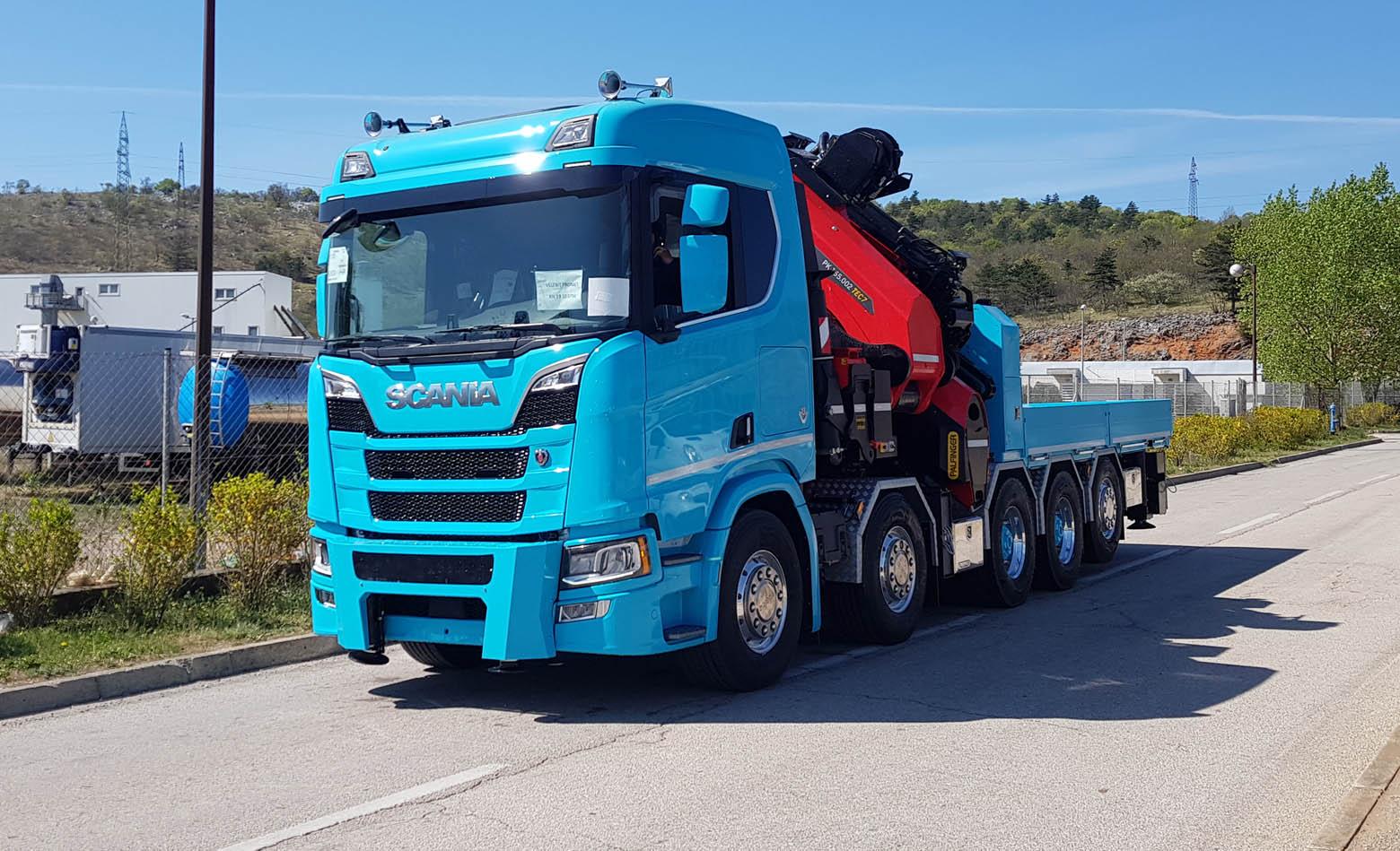 Scania R 650 V8 s Palfinger dizalicom za Velebit Promet
