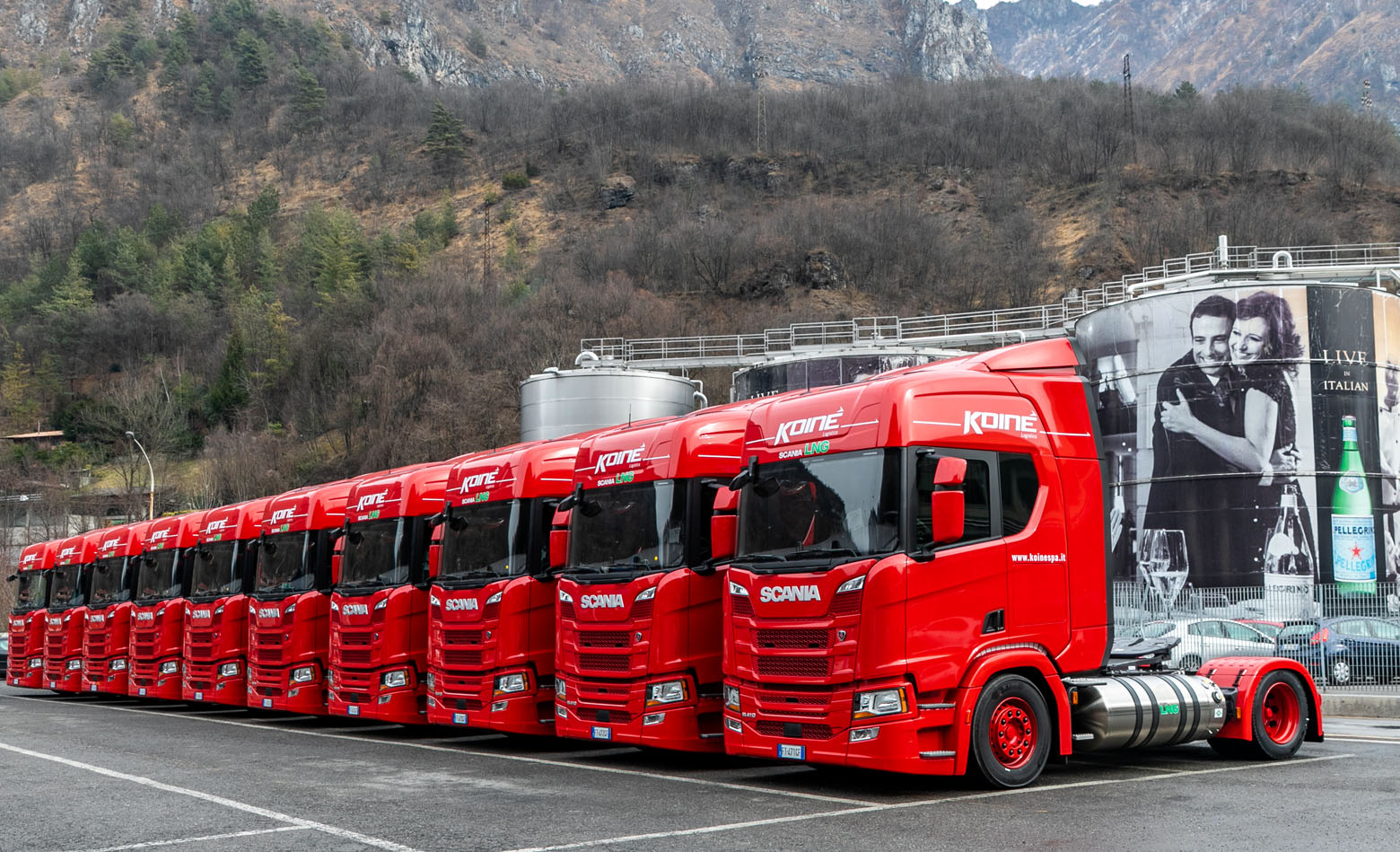 50 Scania R410 LNG za Sanpellegrino