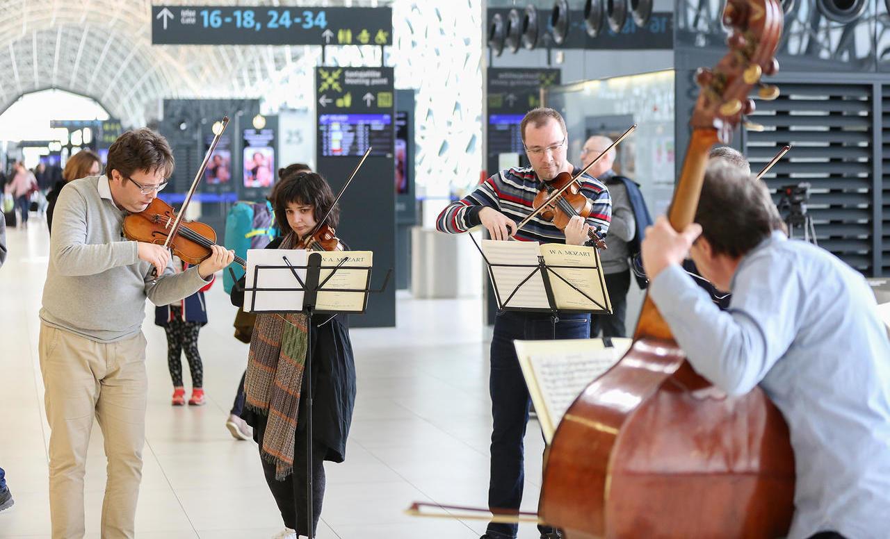 Zagrebački solisti iznenadili putnike u zračnoj luci Franjo Tuđman