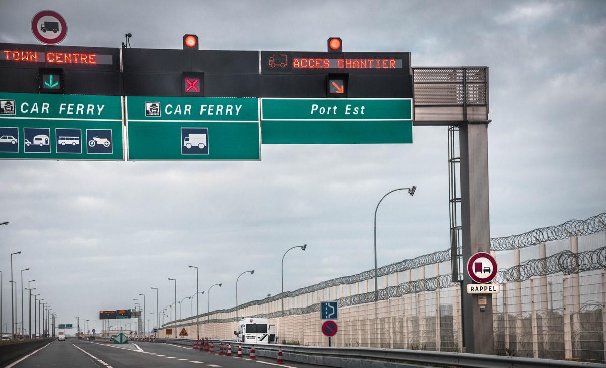 Še en zid v Calaisu