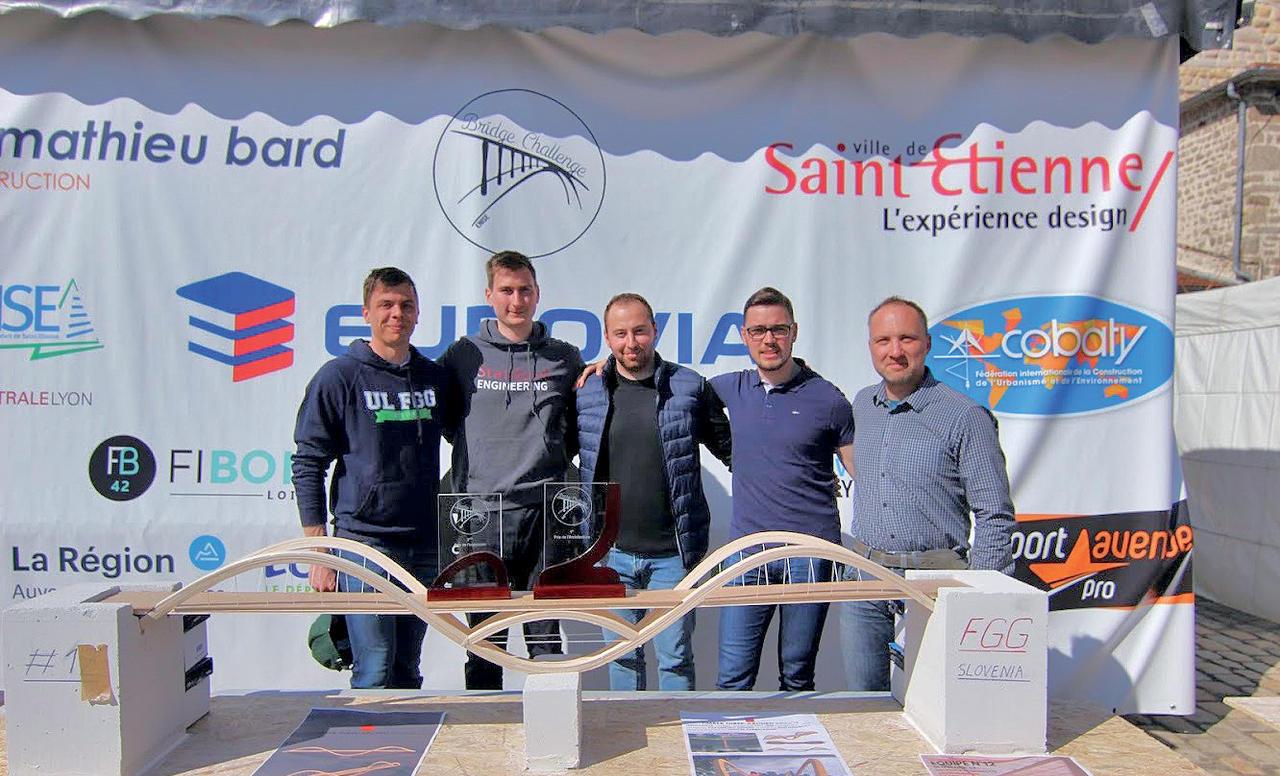 Najboljši model lesenega mostu so zgradili študenti Fakultete za gradbeništvo in geodezijo UL