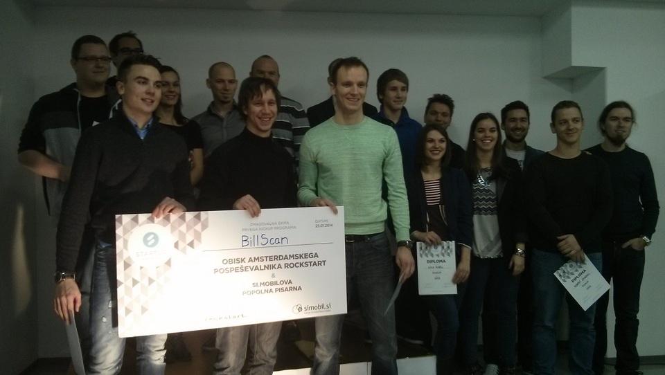 KickUP: V Amsterdamu bo podjetniško idejo razvijala ekipa Bill Scan