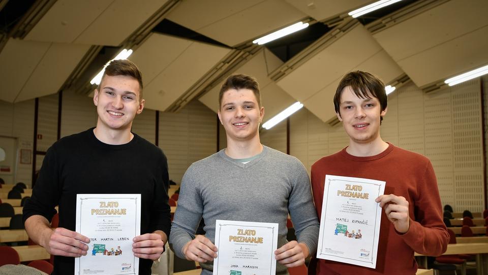 (galerija) Žiga, Peter in Matej so novi državni prvaki iz finančne pismenosti