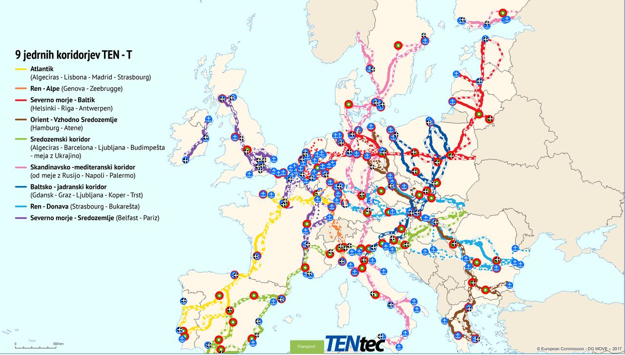 Kaj morate vedeti o omrežju koridorjev TEN-T in kako do EU denarja za naložbe