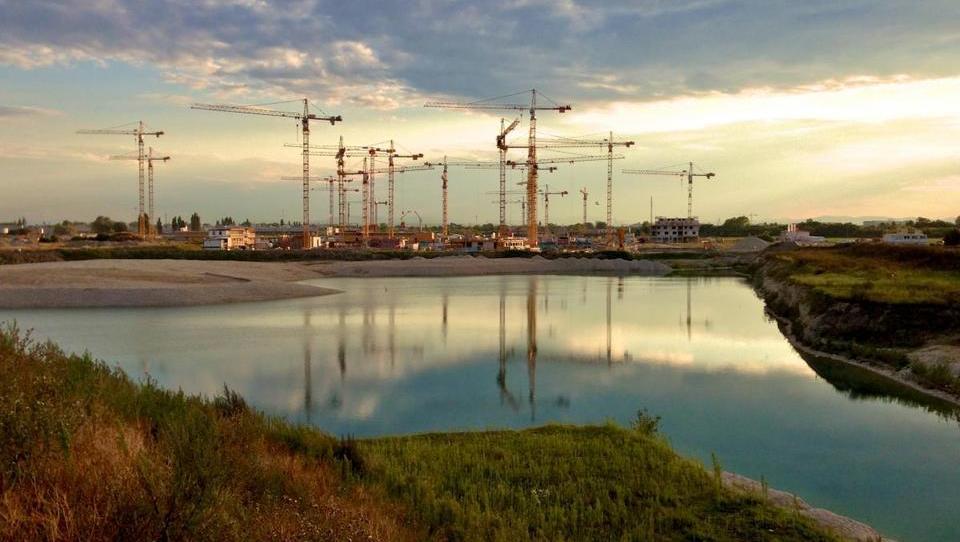 Na gradbišču največjega urbanega projekta v Evropi