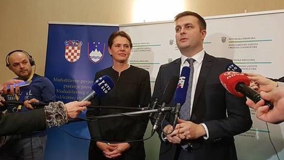 A. Bratušek s Hrvati o reviziji programov odlaganja radioaktivnih odpadkov