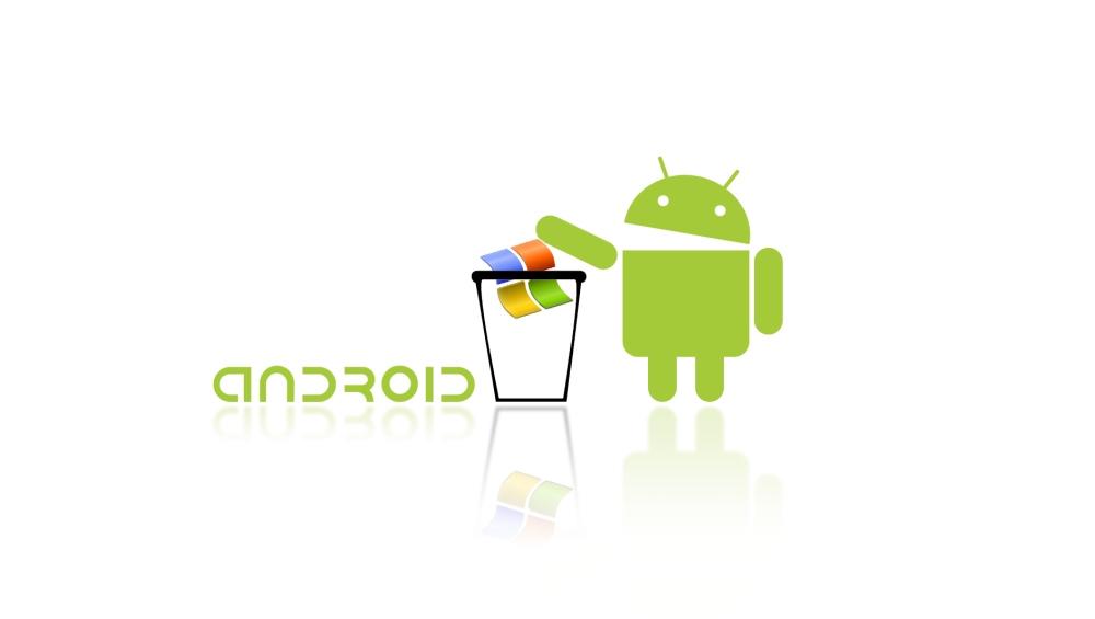 Android s prestola zabrisal Okna