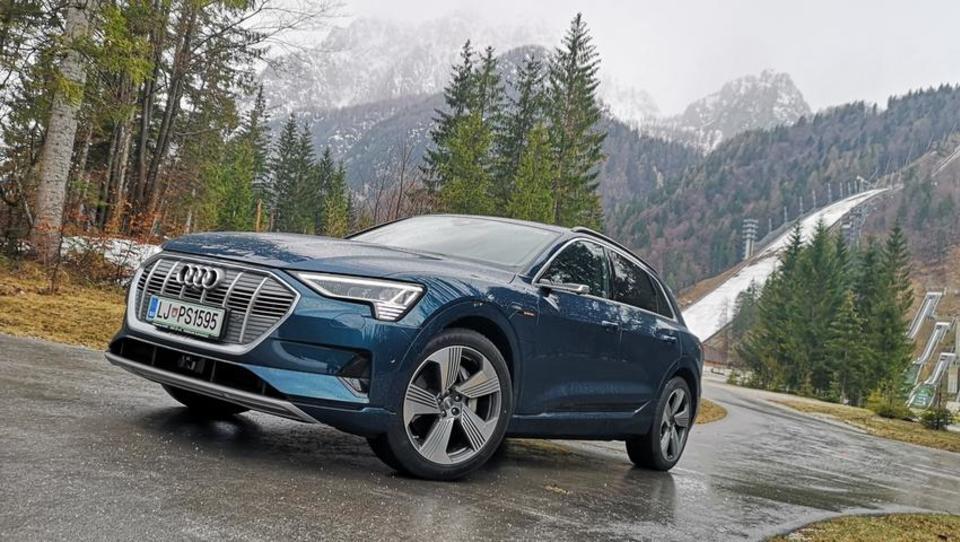 Audijev električni high tech omrežil 40 Slovencev
