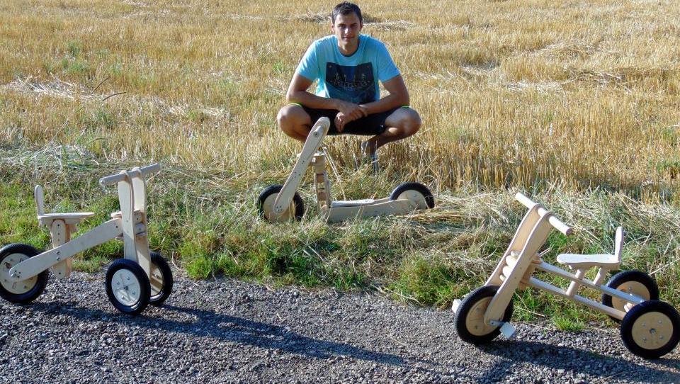 Najpodjetniška ideja: Lucky3in1 je tricikel, skiro in poganjalec za malčke  v enem