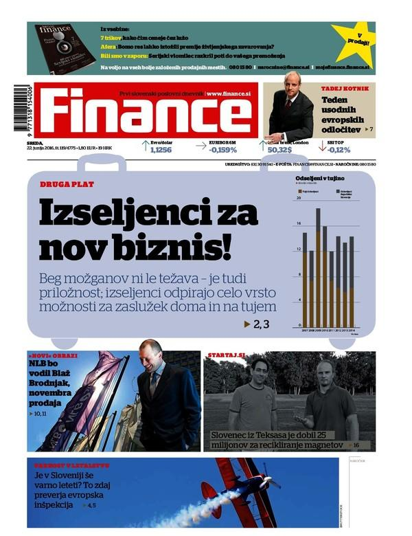 Finance LIVE: Naslovne zgodbe Financ