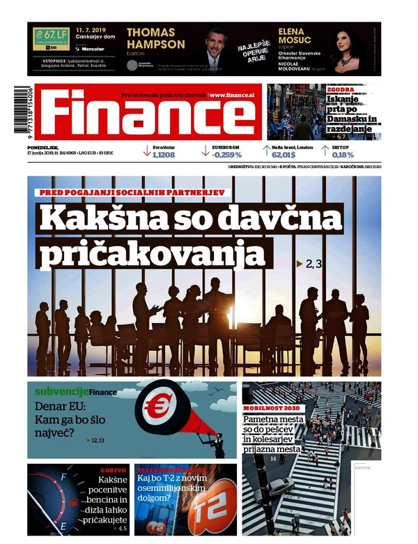 Naslovne zgodbe Financ