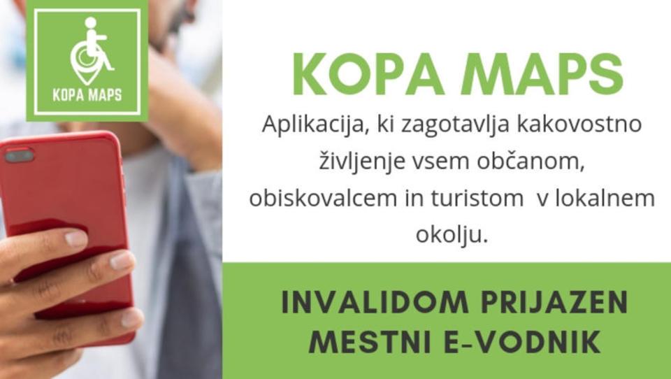 Slovenski invalidom prijazen mestni e-vodnik KOPA Maps