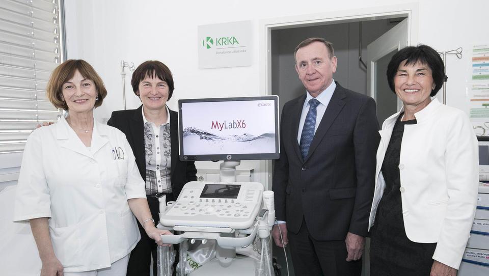 Tovarna zdravil Krka donirala sredstva za nakup ultrazvoka