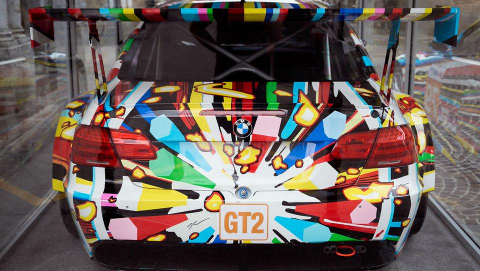 Umetniški BMW znova pred Mestnim muzejem