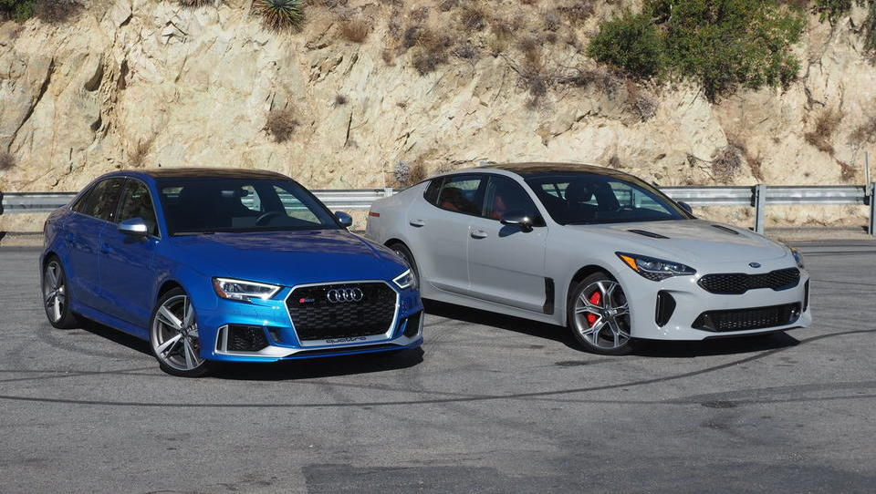 Audi RS3 in kia stinger GT – nemško-korejski športni dvoboj