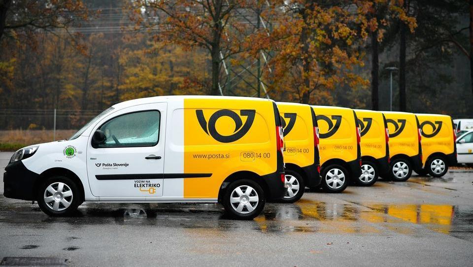Pošta Slovenije elektrificira vozni park in napoveduje prihranke