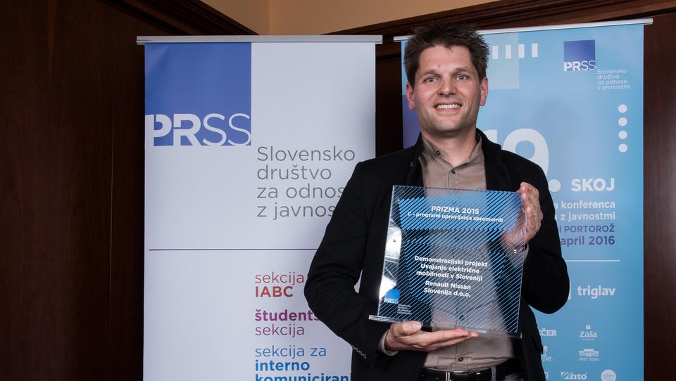 Renaultu nagrada za projekt električne mobilnosti v Sloveniji