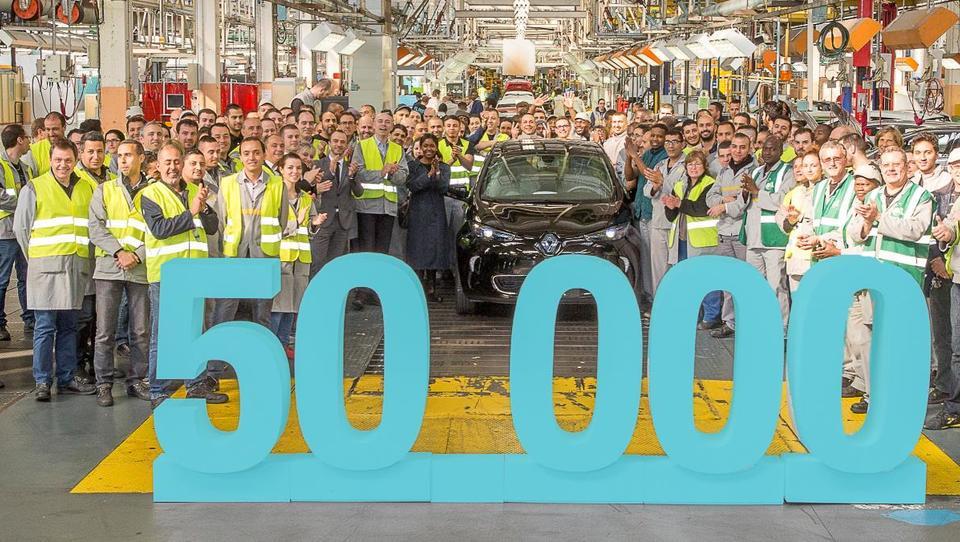 Renault izdelal že 50 tisoč električnih zoejev