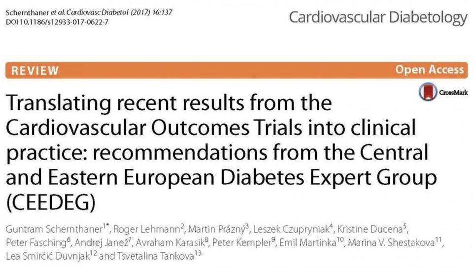Kako zadnje izsledke iz študij CVOT uporabiti v klinični praksi