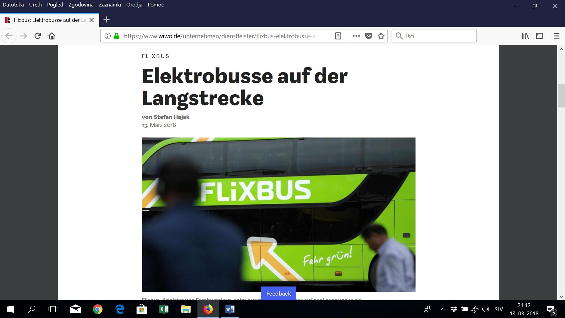 Flixbus: elektro avtobusi tudi v medkrajevnem prometu