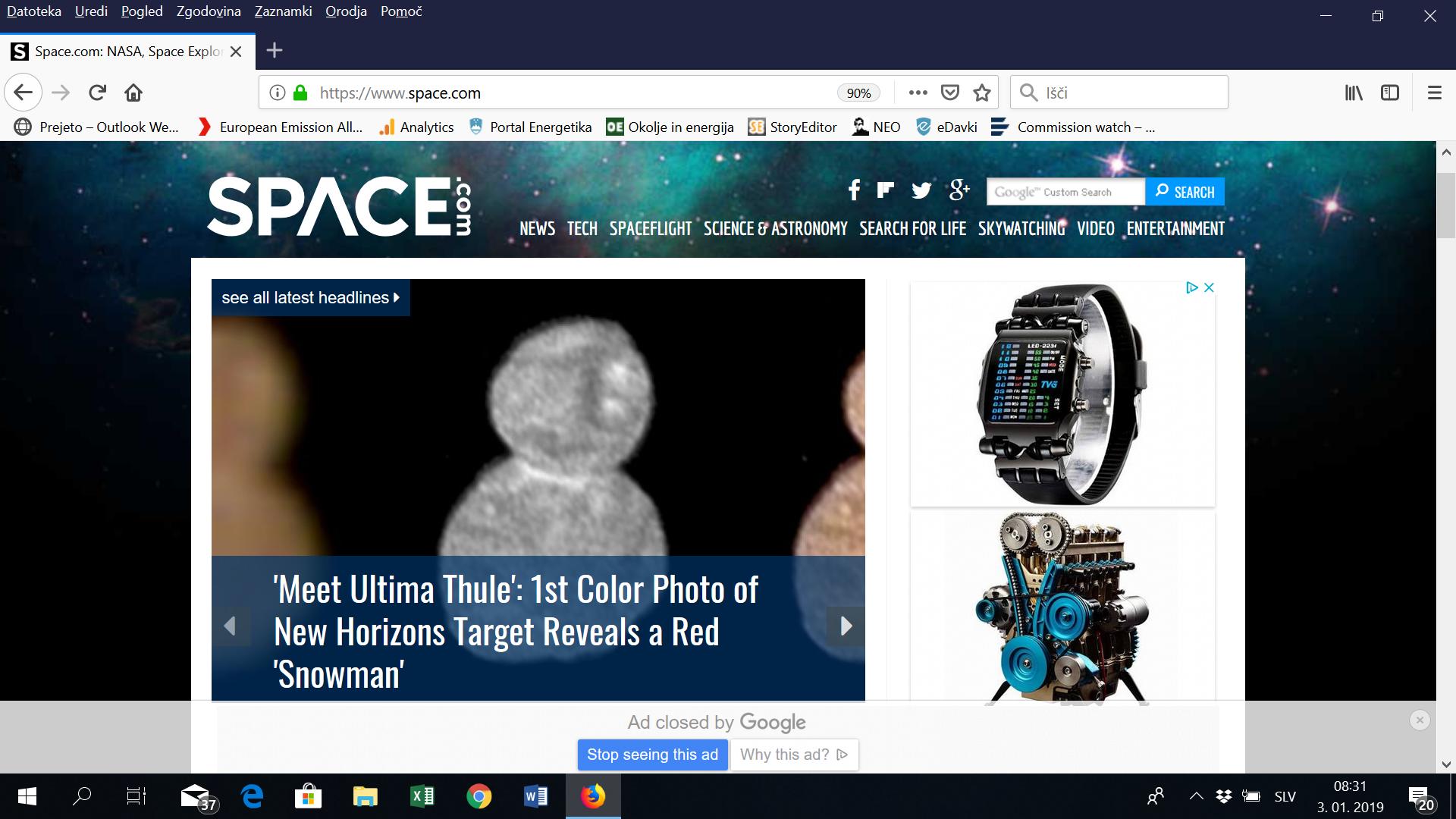 NASA v vesolju našla 'snežaka'