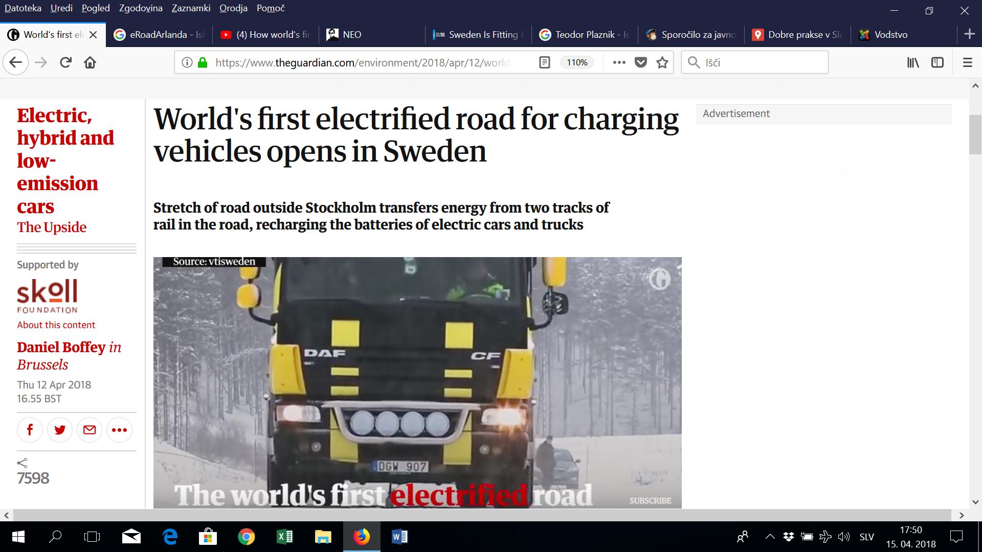 (video) Kako Slovenci in kako Švedi razvijajo polnjenje e-avtov med vožnjo