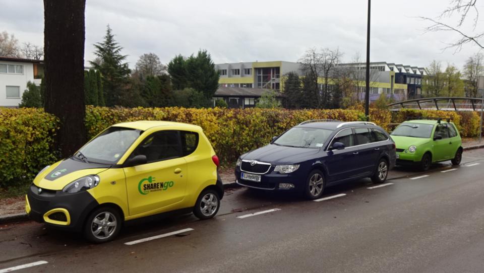 Čudno vprašanje in čuden odgovor o souporabi e-avtov v Ljubljani
