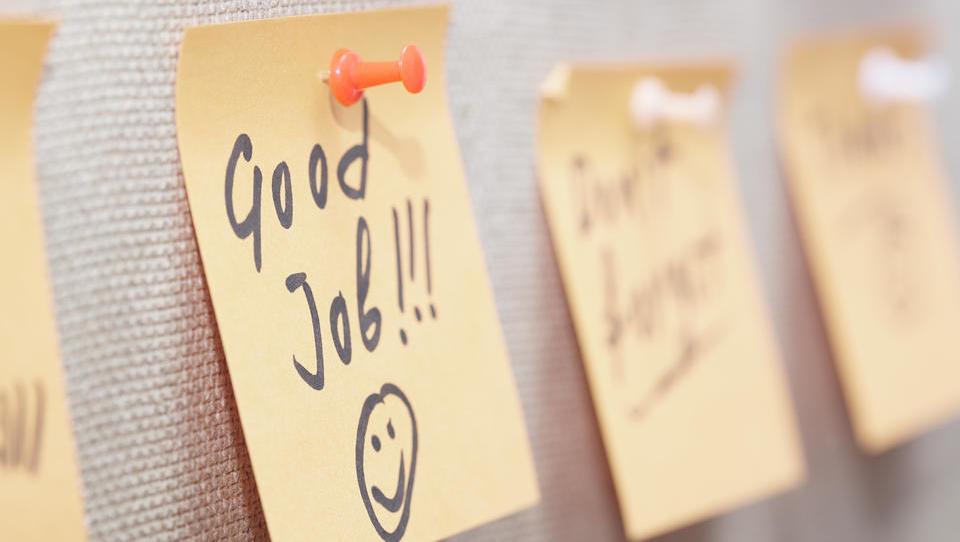 Vodjem svetuje, naj vodijo statistiko, kako pogosto pohvalijo sodelavce