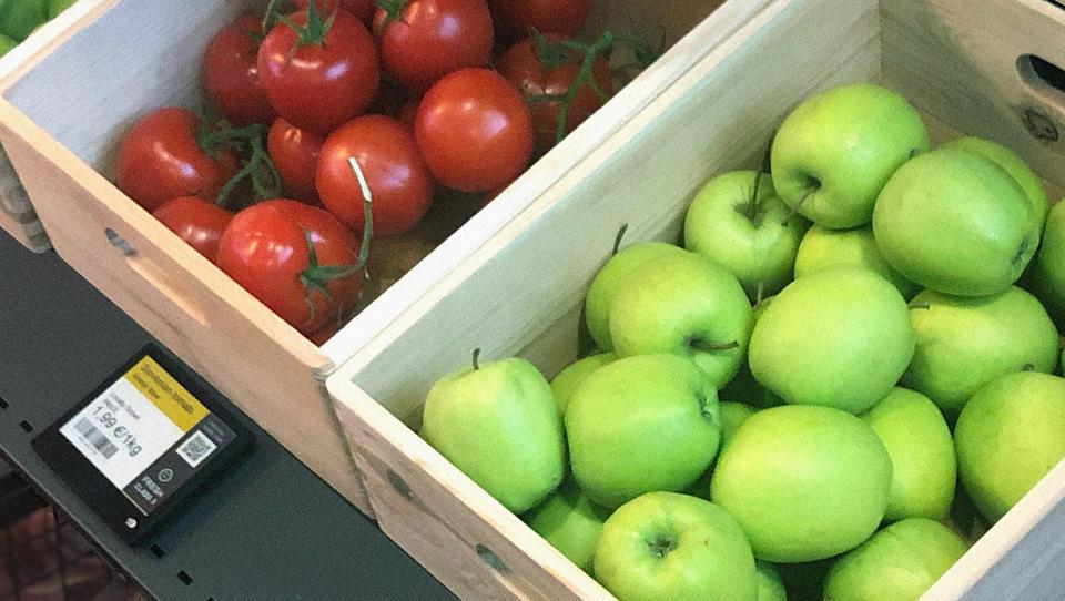 Agitronove digitalne etikete pomagajo trgovcem zmanjšati zavržke svežega sadja in zelenjave