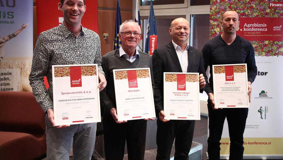 (video) Beno Bajda, Zadruga Granar ter podjetji G2O in Žganjekuha Kržič so zmagovalci natečaja Agrobiznis 2019