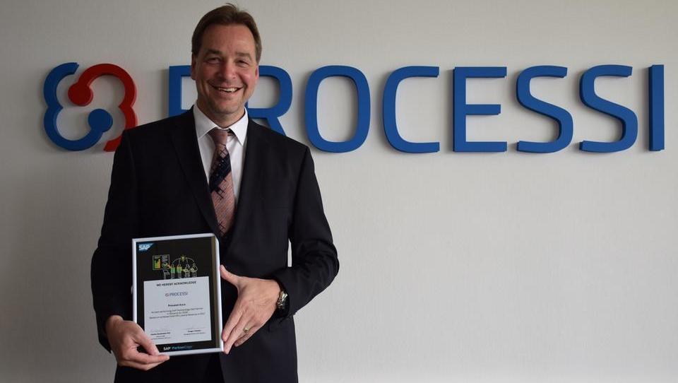 SAP-jevo osrednjo nagrado Partner leta prejme PROCESSI
