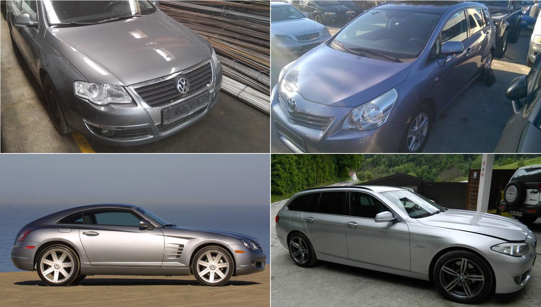 Vozila na dražbah: BMW, toyota, chrysler crossfire in dostavniki