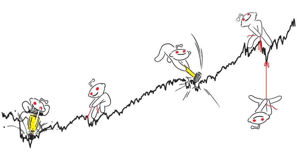 Redditovi nespodobni in pohlepni trgovci stresajo delniški trg