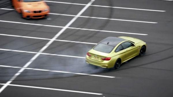 (video) Drseči pozdrav BMW M4 ob srečanju z M družino
