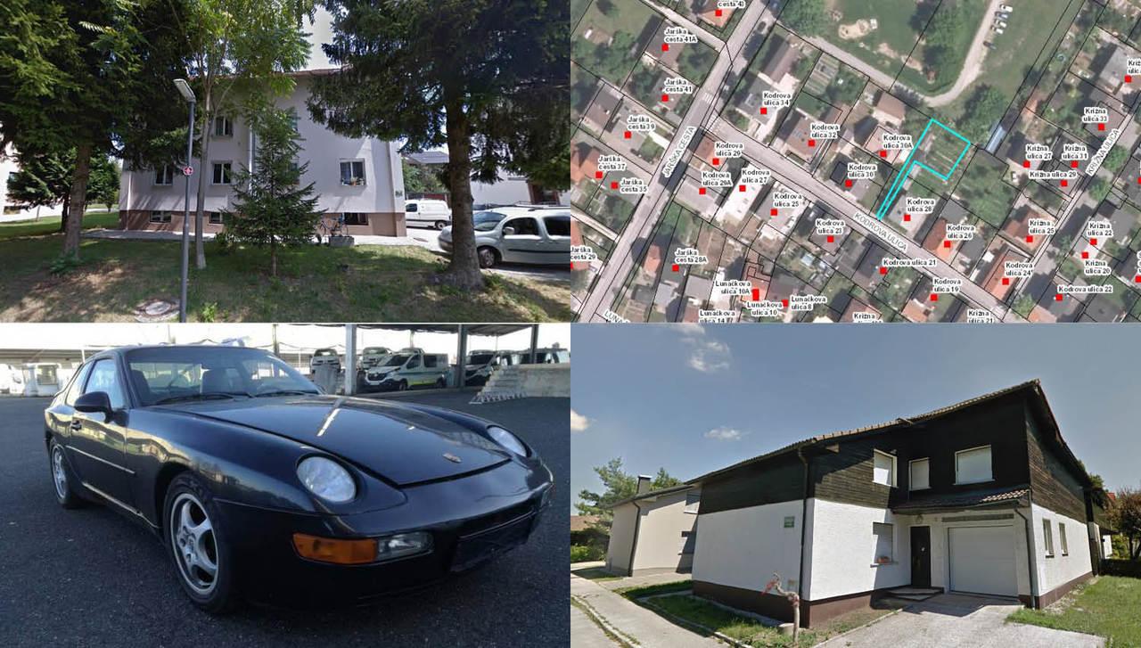 TOP dražbe: stanovanje, zemljišči in hiša v Ljubljani ter porsche