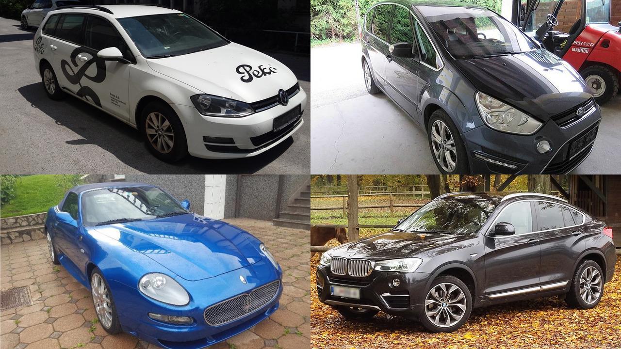 Vozila na dražbi: maserati, BMW X4, golf, ford S-max, john deere …