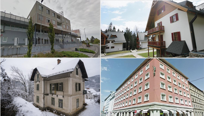 Top dražbe: Stanovanji v Ljubljani in Kamniku, apartma na Pohorju, vila na Bledu, ...