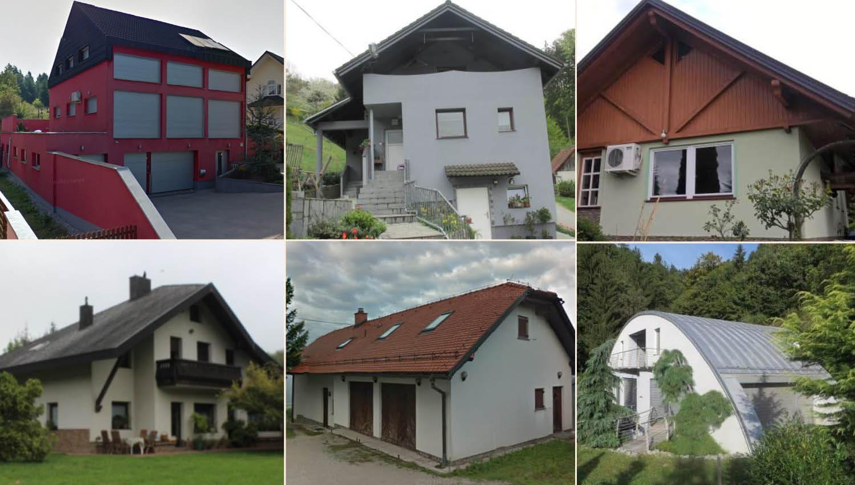 To je vseh 52 hiš, ki bodo na dražbah junija