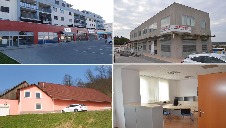 Spletna dražba: Poslovni prostori na Obali in v Mariboru ter večje zemljišče v Kozjem