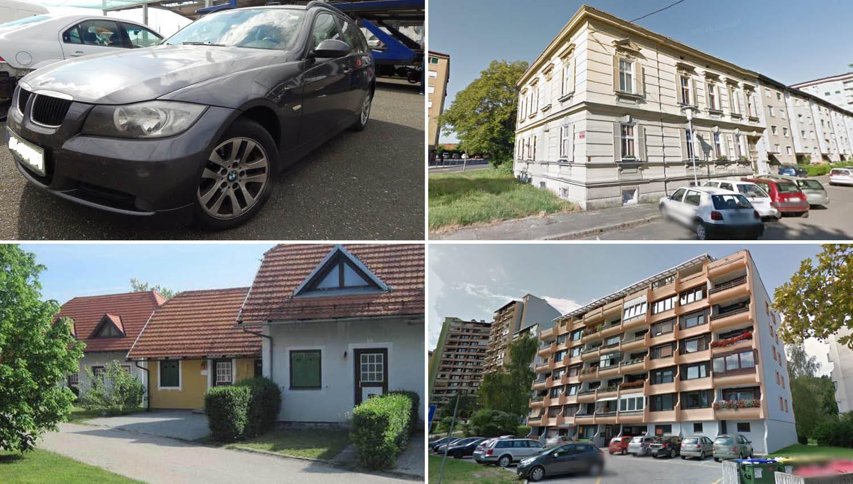 TOP dražbe: BMW, počitniška hiša v Termah Čatež, stanovanji v Mariboru in Velenju ter zemljišča v Ljubljani