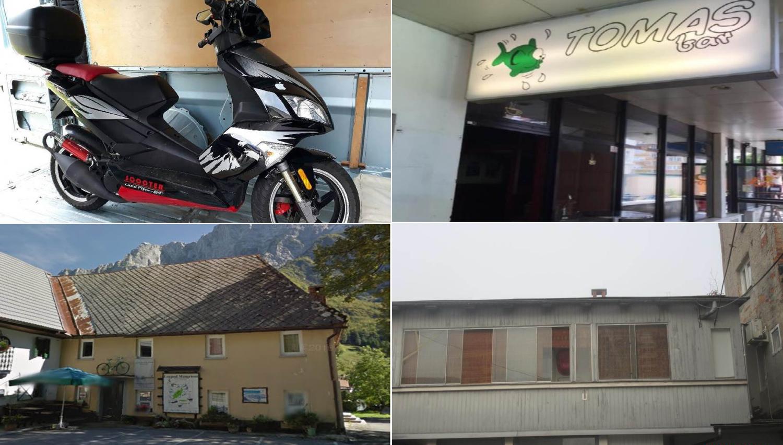 TOP dražbe: stanovanje in bar v Ljubljani, hiša v Logu pod Mangartom, motorno kolo, …