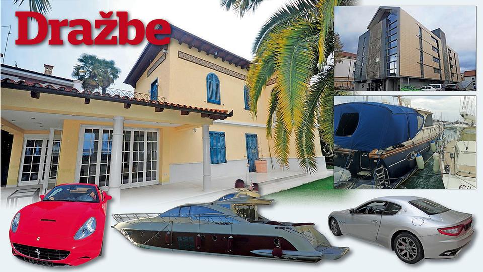 Luksuz na dražbah:  maserati, ferrari, jahte, stanovanja in...  vila v Portorožu