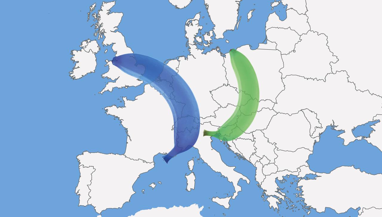Nov Gospodarski Zemljevid Evrope Luka Koper Na Zeleni Banani Tl
