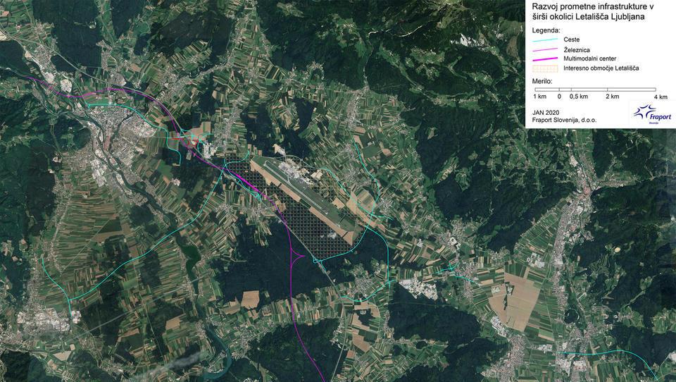 Fraport: 10 projektov za boljšo povezanost letališča. Tudi železnica in tangenta med Štajersko in Gorenjsko.