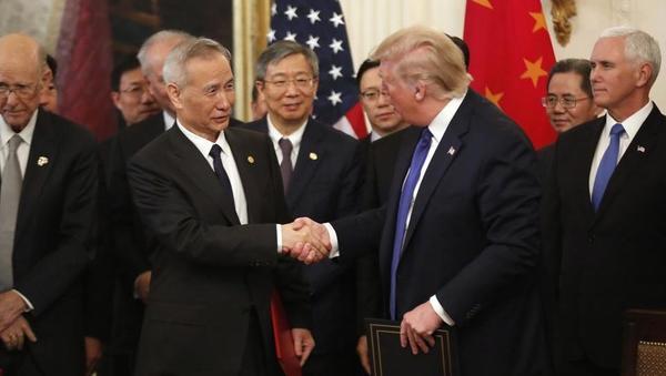Kitajska in ZDA podpisale prvo fazo trgovinskega sporazuma